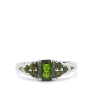 1.27ct Chrome Diopside Sterling Silver Ring