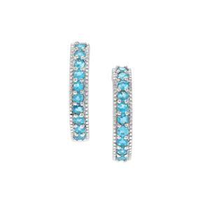 Neon Apatite Earrings in Sterling Silver 0.81ct