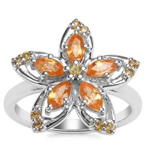 Tulelei Ring with Yellow Sapphire in Sterling Silver 1.55cts