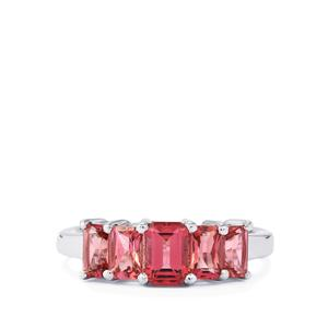 Pink Tourmaline Ring in Sterling Silver 1.90cts