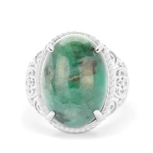 Minas Velha Emerald Ring in Sterling Silver 12.63cts