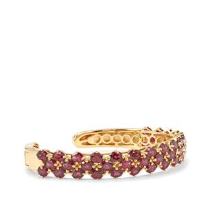 Rhodolite Garnet Cuff in Gold Plated Sterling Silver 21.12cts