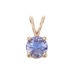 AA Tanzanite Pendant in 9K Gold 0.52ct