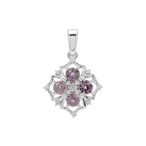 Burmese Spinel Pendant with Natural Zircon in Sterling Silver 1.40cts