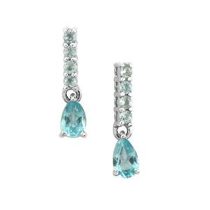 0.67ct Madagascan Blue Apatite Sterling Silver Earrings