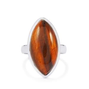 14ct Red Tiger's Eye Sterling Silver Aryonna Ring