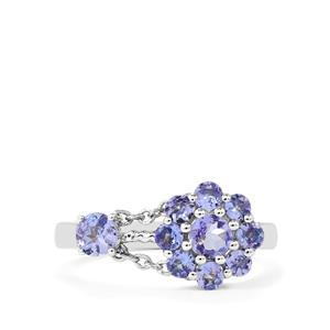 1.07ct Tanzanite Sterling Silver Charleston Ring