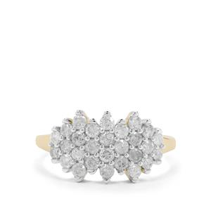 1ct Diamond 9K Gold Ring