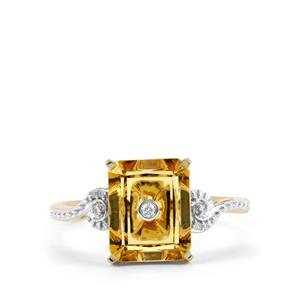 Lehrer TorusRing Marialite Ring with Diamond in 9K Gold 2.28cts