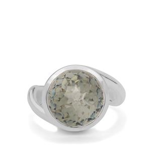 7.90ct Eden Cut Prasiolite Britannia Silver Ring