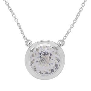 Eden Cut Optic Quartz Necklace in Britannia Silver 8cts