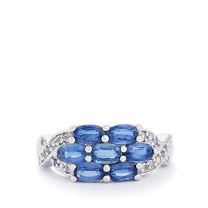 Sundar Kyanite & White Topaz Sterling Silver Ring ATGW 2.38cts