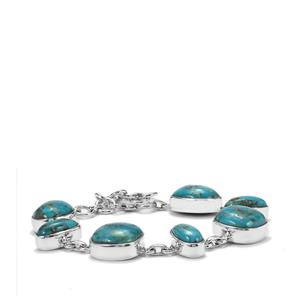 Bonita Blue Turquoise Bracelet  in Sterling Silver 41.88cts