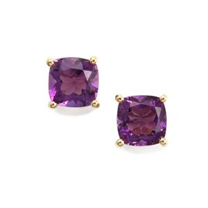 1.93ct Moroccan Amethyst 10K Gold Earrings