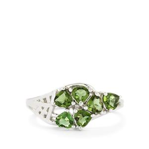 1.11ct Chrome Tourmaline Sterling Silver Ring