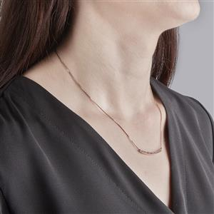 White Topaz Necklace in Rose Gold Vermeil 0.63ct