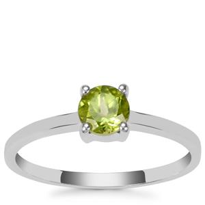 Changbai Peridot Ring in Sterling Silver 0.53ct