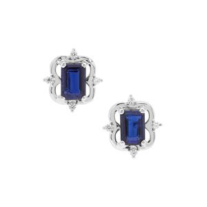 Nilamani Earrings with White Zircon in Sterling Silver 1.57cts