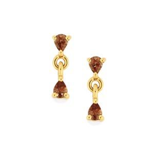 0.59ct Bekily Colour Change Garnet 9K Gold Earrings
