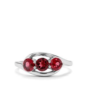 1.45ct Rajasthan Garnet Sterling Silver Ring