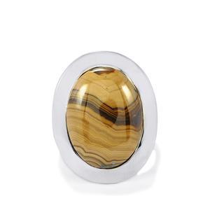 18ct Schelm Blend Sphalerite Sterling Silver Aryonna Ring