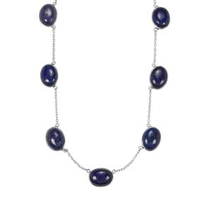 Sar-i-Sang Lapis Lazuli Necklace in Sterling Silver 67.45cts