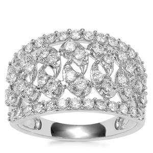 Internally Flawless Diamond Ring in 18K White Gold 1ct