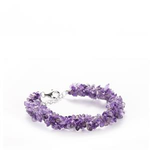 Bahia Amethyst Nugget Bracelet in Sterling Silver 76cts