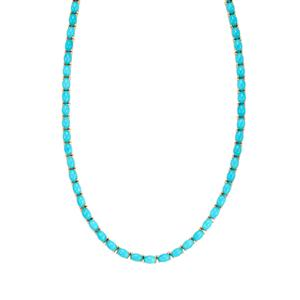 Sleeping Beauty Turquoise Necklace in 10K Gold 29.41cts