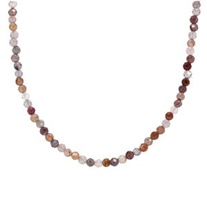 Burmese Multi-Colour Spinel Necklace in Sterling Silver 31cts