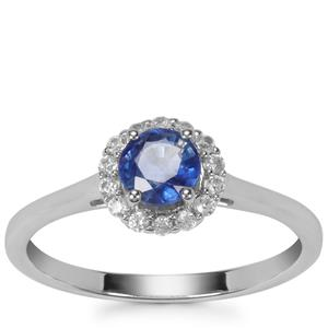 Daha Kyanite Ring with White Zircon in Sterling Silver 0.85ct