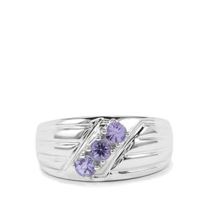 0.65ct AA Tanzanite Sterling Silver Ring