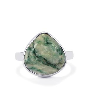 Siberian Mariposite Ring in Sterling Silver 8.88cts