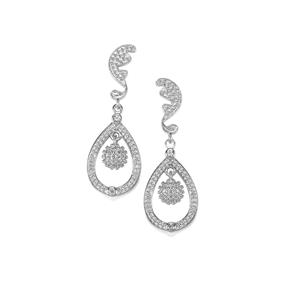 0.24ct White Topaz Sterling Silver Iconic Earrings
