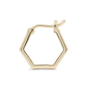 Molte Mini Hex Hoop Earrings in 9K Gold