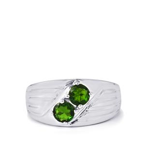 Chrome Diopside Ring in Sterling Silver 1.45cts