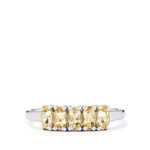 Ouro Preto Imperial Topaz Ring  in Sterling Silver 1.16cts