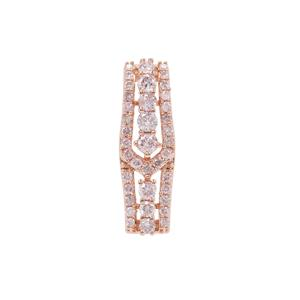 Pink Diamond Pendant in 9K Rose Gold 0.49ct