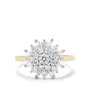 """The Snowflake"" 1ct Diamond 18K Gold Tomas Rae Ring"