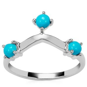 Sleeping Beauty Turquoise Ring in Sterling Silver 0.54ct