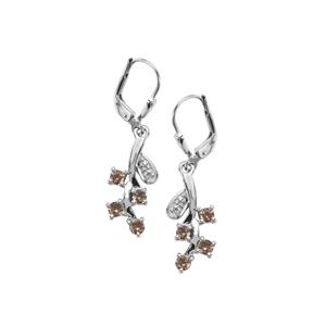 0.80ct Tsivory Colour Change Garnet Sterling Silver Earrings
