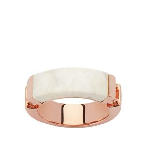 Magnesite Ring in Rose Gold Plated Sterling Silver 6.69cts