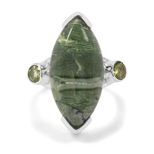 Chemin Opal &  Red Dragon Peridot Sterling Silver Aryonna Ring ATGW 10ct