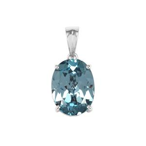 11.08ct Versailles Topaz Sterling Silver Pendant