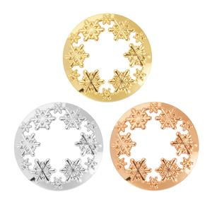 Gem Aura's Snowflake Candle Topper - Available in Silver, Gold & Rose Gold