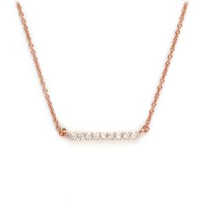 1/8ct Diamond Rose Gold Plated Sterling Silver Necklace