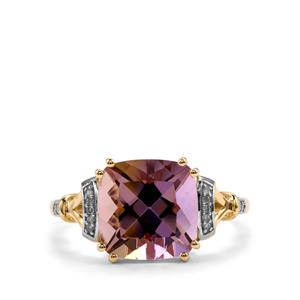 Anahi Ametrine Ring with Diamond in 9K Gold 3.65cts