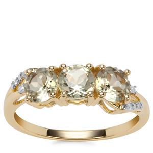 Csarite® Ring with Diamond in 10k Gold 1.78cts