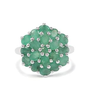 3.03ct Carnaiba Brazilian Emerald Sterling Silver Ring
