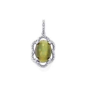 Cat's Eye Pendant in Sterling Silver 8.21cts